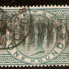 Sellos: INGLATERRA YVERT 105 (º) 1 LIBRA VERDE 1887/1900 NL1059. Lote 253974900