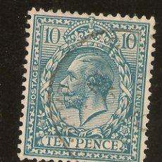 Sellos: INGLATERRA YVERT 151 (º) 10 PENIQUES AZUL Y VERDE 1912/1922 NL1109. Lote 253989295