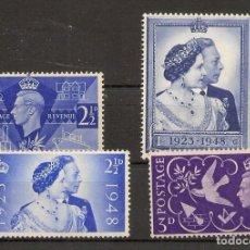 Sellos: INGLATERRA YVERT 235/238* MH 2 SERIES COMPLETAS 1946/1948 NL1289. Lote 254128800