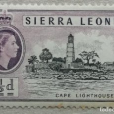 Sellos: 1955. SIERRA LEONA. 181. FARO DEL CABO. USADO.. Lote 254131130