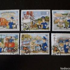 Sellos: ISLA DE MAN (GRAN BRETAÑA) YVERT 638/43 SERIE COMPLETA USADA 1994 CARTEROS PEDIDO MÍNIMO 3€. Lote 255566910