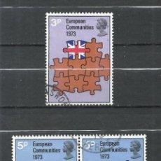 Sellos: GRAN BRETAÑA - 1973 - MICHEL 612-614 - USADO. Lote 255954665