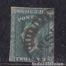 Sellos: NUEVA GALES DEL SUR COLONIA BRITÁNICA .20 MARGEN CORTO USADA,. Lote 257476510