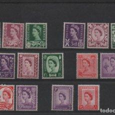 Selos: SERIE COMPLETA NUEVA CON CHARNELA DE REINO UNIDO DE 1958/67. EMISIONES REGIONALES.. Lote 262143360