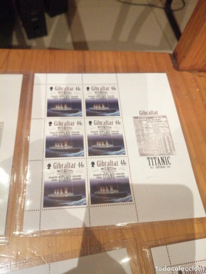 Sellos: 5 hojas bloque centenario hundimiento titanic - Foto 3 - 262636950