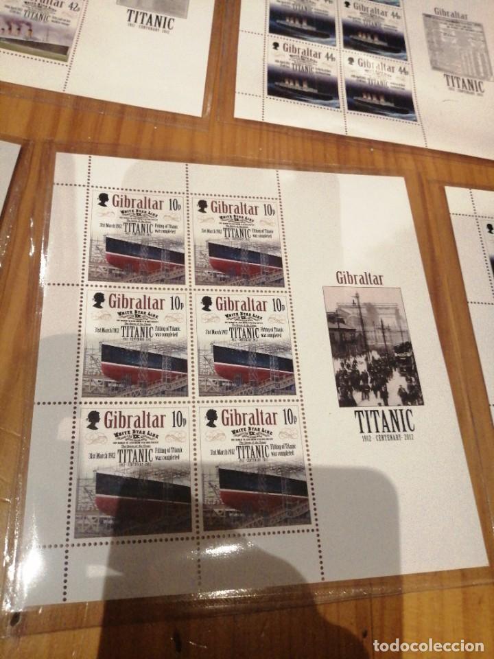 Sellos: 5 hojas bloque centenario hundimiento titanic - Foto 5 - 262636950