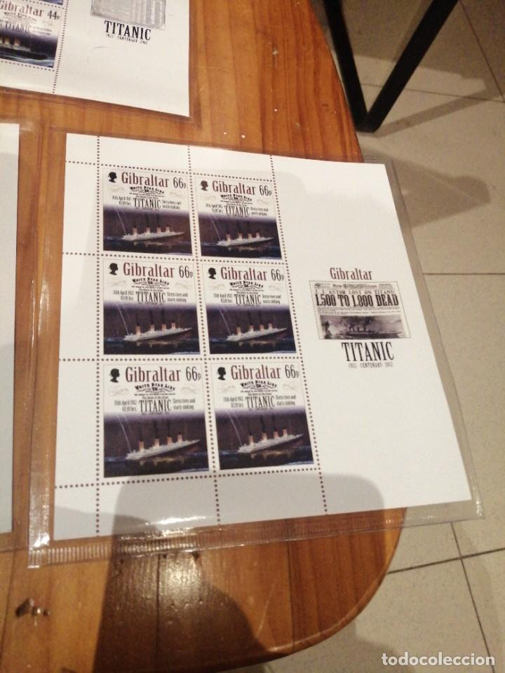 Sellos: 5 hojas bloque centenario hundimiento titanic - Foto 6 - 262636950