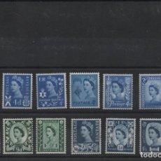 Selos: SERIE COMPLETA NUEVA DE REINO UNIDO. REGIONALES DE 1966-67. Lote 262975280