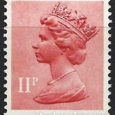Sellos: GRAN BRETAÑA 1976 - ISABEL II, 11 P ROJO CLARO O ROSA - M SIN GOMA. Lote 263756505