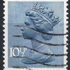 Sellos: GRAN BRETAÑA 1978 - ISABEL II, 10½ AZUL GRISÁCEO - USADO. Lote 263759325