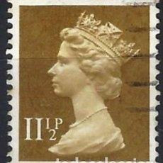 Sellos: GRAN BRETAÑA 1979 - ISABEL II, 11½ MARRÓN OLIVA - USADO. Lote 263759535