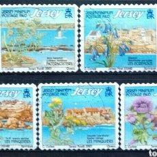 Sellos: GUERNSEY 2003 FLORES SERIE DE SELLOS USADOS. Lote 269027344