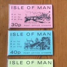 Sellos: ISLE OF MAN, 1973, 3 CARNES DE 30P, 40P Y 50P, NUEVOS. Lote 269146578