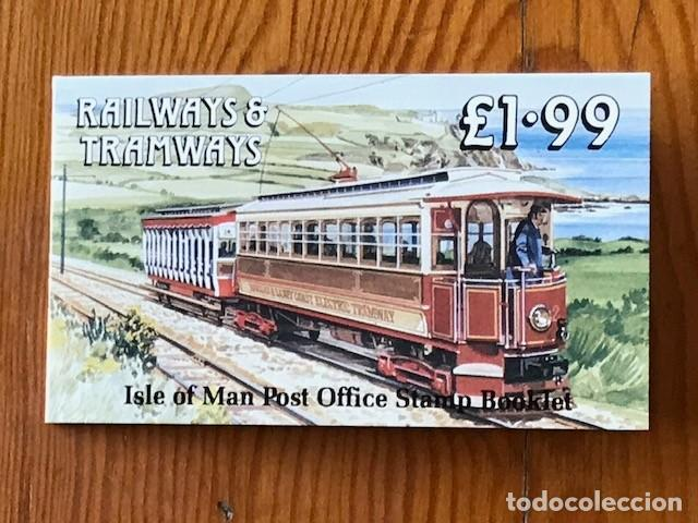 ISLE OF MAN, 1988, CARNE RAILWAYS & TRAMWAYS 1,99, C356, NUEVOS (Sellos - Extranjero - Europa - Gran Bretaña)