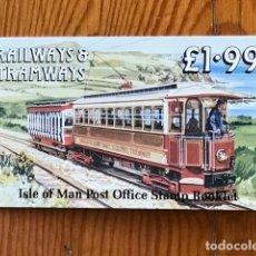 Sellos: ISLE OF MAN, 1988, CARNE RAILWAYS & TRAMWAYS 1,99, C356, NUEVOS. Lote 269148233