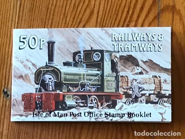 ISLE OF MAN, 1988, CARNE RAILWAYS & TRAMWAYS 50P, C353, NUEVOS (Sellos - Extranjero - Europa - Gran Bretaña)