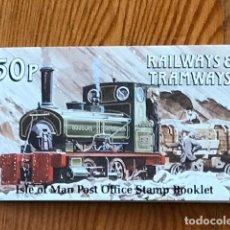 Sellos: ISLE OF MAN, 1988, CARNE RAILWAYS & TRAMWAYS 50P, C353, NUEVOS. Lote 269148688