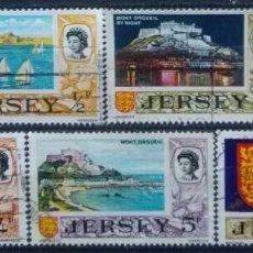 Francobolli: JERSEY PANORÁMICAS DE LA ISLA SERIE DE SELLOS USADOS. Lote 269191573