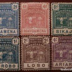 Timbres: GRAN BRETAÑA - COLONIAS - MADAGASCAR - CORREO BRITANICO 1895 -.. Lote 276691473