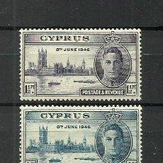 Sellos: CHIPRE COLONIAS BRITANICAS 1946 SERIE COMPLETA **. Lote 277085483