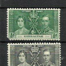 Sellos: GIBRALTAR COLONIAS BRITANICAS 1937 SERIE COMPLETA **. Lote 277086018