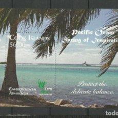 Sellos: COOK ISLANDS- COLONIAS BRITANICAS 2010 ** HOJITA. Lote 277281348