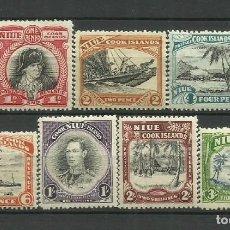 Sellos: NIUE- COLONIAS BRITANICAS 1944/ 46 ** 7 VALORES. Lote 277282918