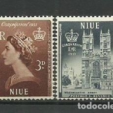 Sellos: NIUE- COLONIAS BRITANICAS 1953 *. Lote 277283683