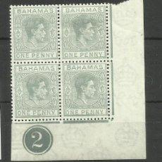 Sellos: BAHAMAS- COLONIAS BRITANICAS 1938/48 (UN SELLO CON * LOS OTROS TRES **). Lote 277499443