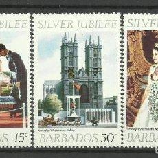 Sellos: BARBADOS- COLONIAS BRITANICAS 1977 *. Lote 277502498