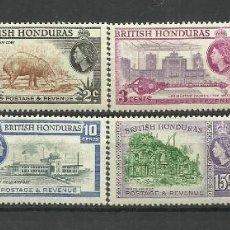 Sellos: BRITISH HONDURAS-- COLONIAS BRITANICAS 1953 /1957 ** 8 VALORES. Lote 277514523