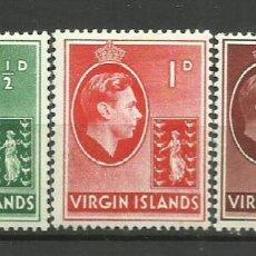 Timbres: VIRGIN ISLANDS-COLONIAS BRITANICAS 1938 *. Lote 277746633