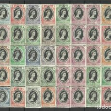 Sellos: CORONACION -COLONIAS BRITANICAS 1953 * 59 SEGELLS. Lote 278519733