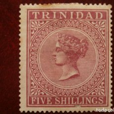 Sellos: COLONIAS GRAN BRETAÑA - AMERICA - TRINIDAD 1869 - FIVE SHILLINGS -.. Lote 278920138