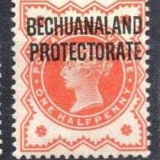 Sellos: BECHUANALAND PROTECTORATE/1897/MH/SC#69/ REINA VICTORIA / SOBRE IMPRESO / 1/2P VERMILLON. Lote 283265993