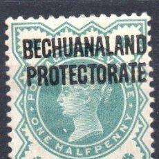 Sellos: BECHUANALAND PROTECTORATE/1902/MH/SC#75/ REINA VICTORIA / SOBRE IMPRESO / 1/2P VERDE AZULADO. Lote 283266143