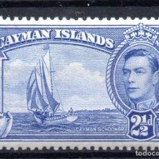 Sellos: CAYMAN ISLAND/1938-43/MNH/SC#105/ REY JORGE VI / KGVI / REALEZA 2 1/2P ULTRA. Lote 283266848