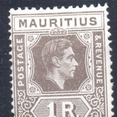 Sellos: MAURITIUS/1938-43/MH/SC#219/ REY JORGE VI / KGVI / 1R MARRON NEGRO. Lote 283268833