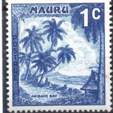 Sellos: NAURU/1966/MNH/SC#58/ BAHIA DE ANIBARE / PAISAJES / 1C AZUL OSCURO. Lote 283269608
