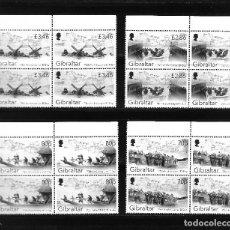 Sellos: GIBRALTAR 2019, SERIE 1901/4 75 ANIVERSARIO DESEMBARCO DÍA-D EN BLOQUE DE CUATRO. MNH.. Lote 287995948