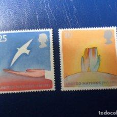 Sellos: -INGLATERRA, 1995, EUROPA, PAZ Y LIBERTAD, YVERT 1819/20. Lote 288907778
