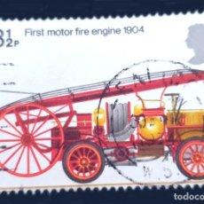 Sellos: MICHEL GB 646 - REINO UNIDO - FIRE BRIGADE - FIRST MOTOR FIRE-ENGINE, 1904 - 1974. Lote 288913148