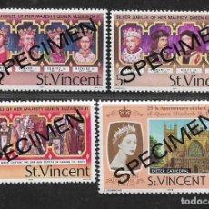 Sellos: SAN VICENTE,- SOBRECARGA--SPECIMENN-- VER FOTOS. Lote 297167218