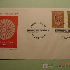 Sellos: 1958 GRECIA GREECE 1966 TEMA EUROPA SOBRE DIA EMISION SPD FDC MAS EN MI TIENDA COSAS&CURIOSAS. Lote 5453818