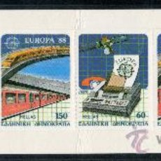 Sellos: GRECIA AÑO 1988 YV 1667/68*** CT - EUROPA - TELECOMUNICACIONES - FERROCARRILES - TRANSPORTES. Lote 26783832
