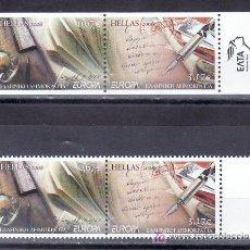 Sellos: GRECIA AÑO 2008 4 VALORES SIN CHARNELA, TEMA EUROPA, LA CARTA, . Lote 20830472