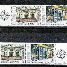 Sellos: GRECIA 1726/8A SIN CHARNELA, TEMA EUROPA, EDIFICIOS DE CORREOS. Lote 20830876