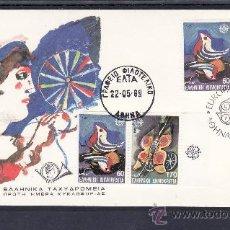 Sellos: GRECIA 1703/4, 1705A PRIMER DIA, TEMA EUROPA, JUEGOS INFANTILES, . Lote 22408066
