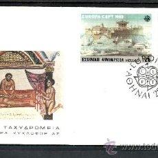 Sellos: GRECIA 1491/2 PRIMER DIA, TEMA EUROPA, GRANDES OBRAS DE LA HUMANIDAD, ACROPOLIS DE ATENAS . Lote 24903997