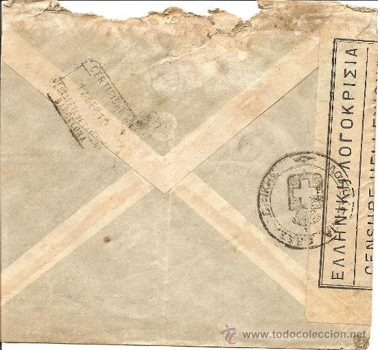 Sellos: SOBRE CENSURA HELÉNICA DE SALÓNICA A BARCELONA - AÑO 1919 - DIVERSAS MARCAS - Foto 2 - 28650921